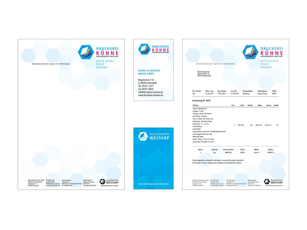 Druckerei Kühne, Grafik & Service: Corporate Design - 2