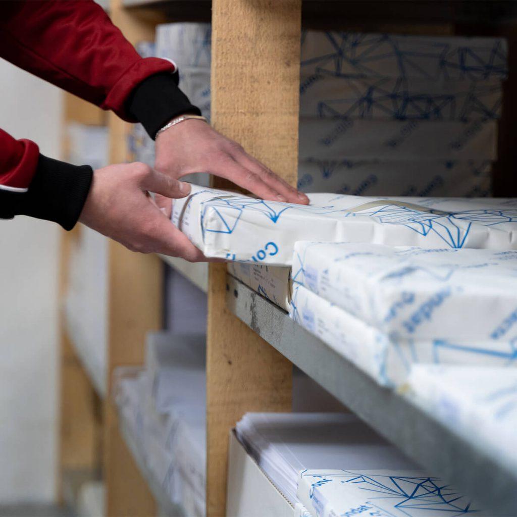 Druckerei Kühne: Lager ©Velensek Image